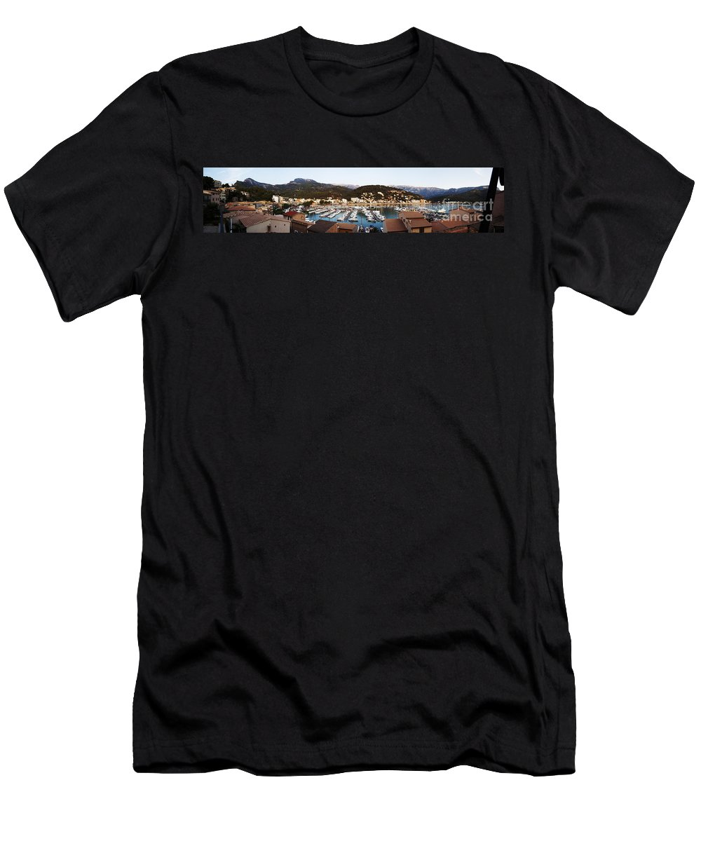 Puerto Men's T-Shirt (Athletic Fit) featuring the photograph Port Of Soller by Agusti Pardo Rossello