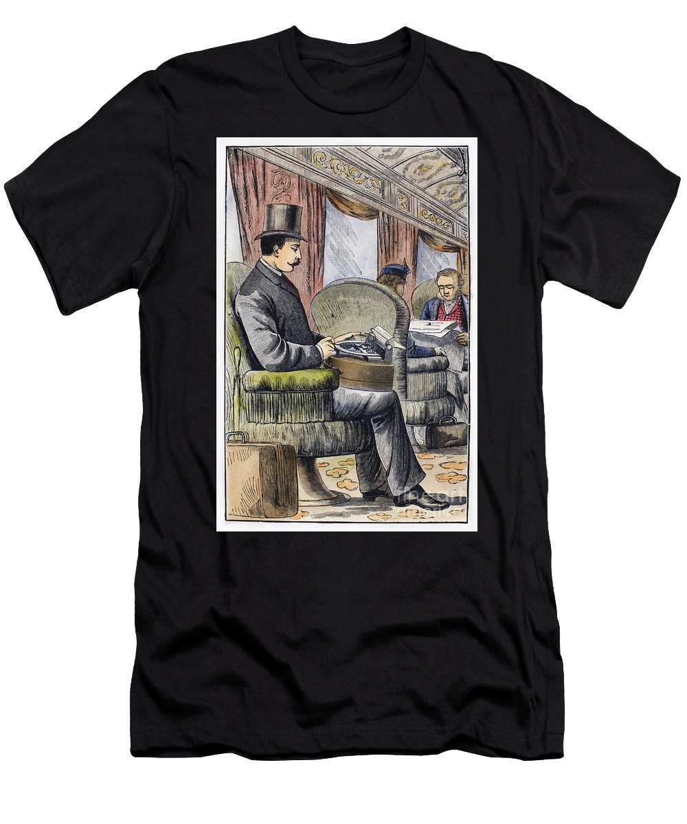 1889 Men's T-Shirt (Athletic Fit) featuring the photograph Portable Typewriter, 1889 by Granger