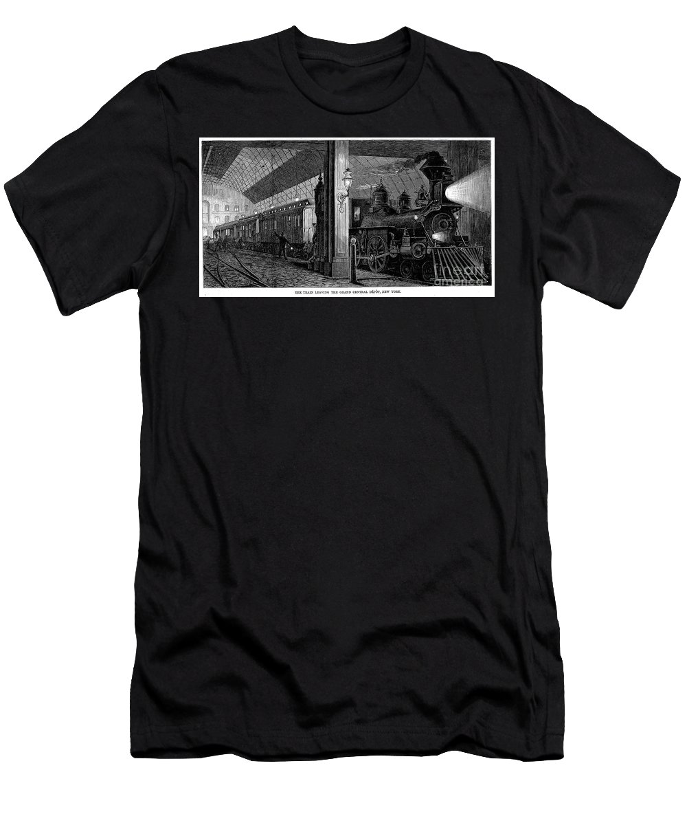 1875 Men's T-Shirt (Athletic Fit) featuring the photograph Postal Service, 1875 by Granger