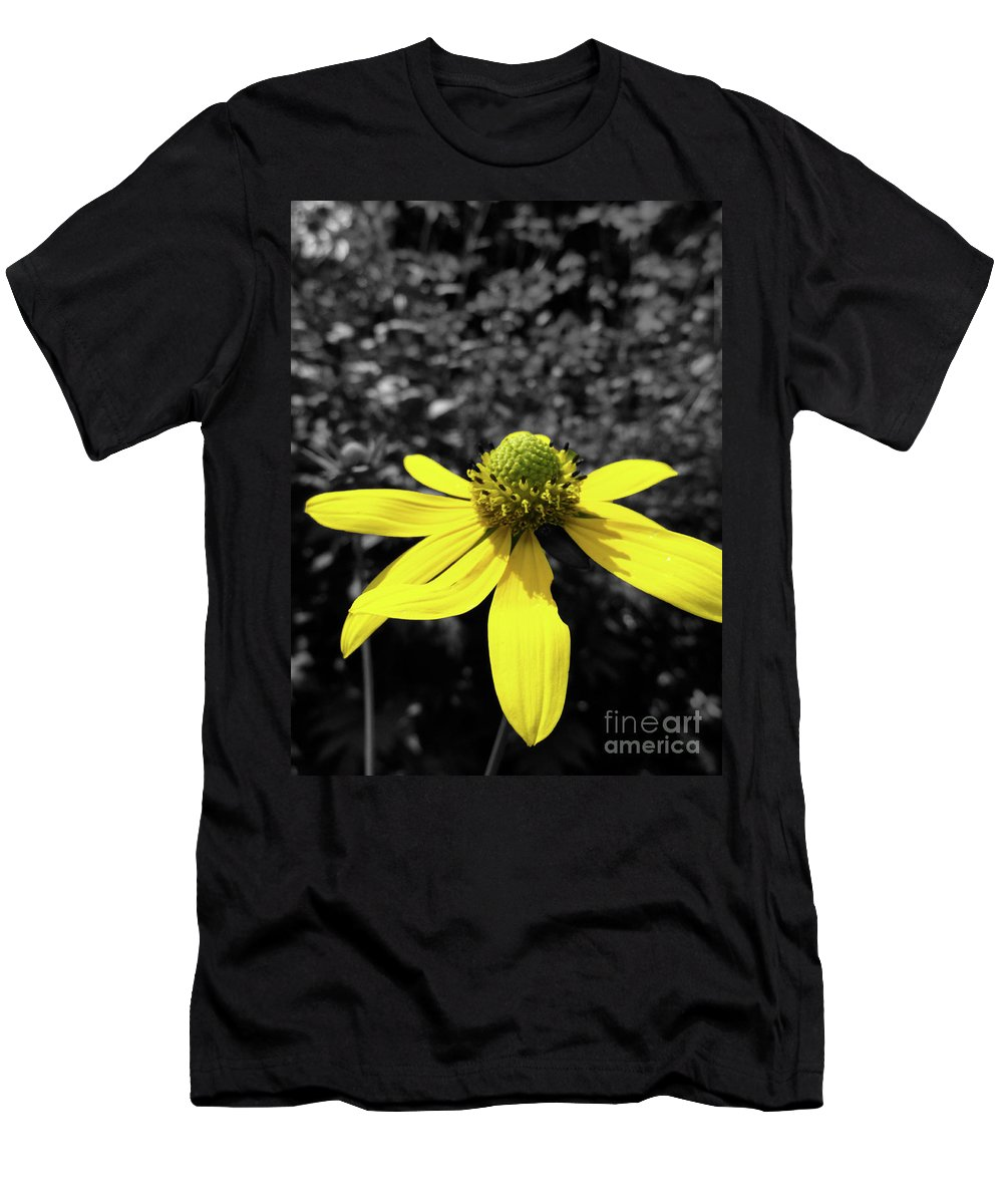 Yellow Men's T-Shirt (Athletic Fit) featuring the photograph Pow Yeller by Trish Hale