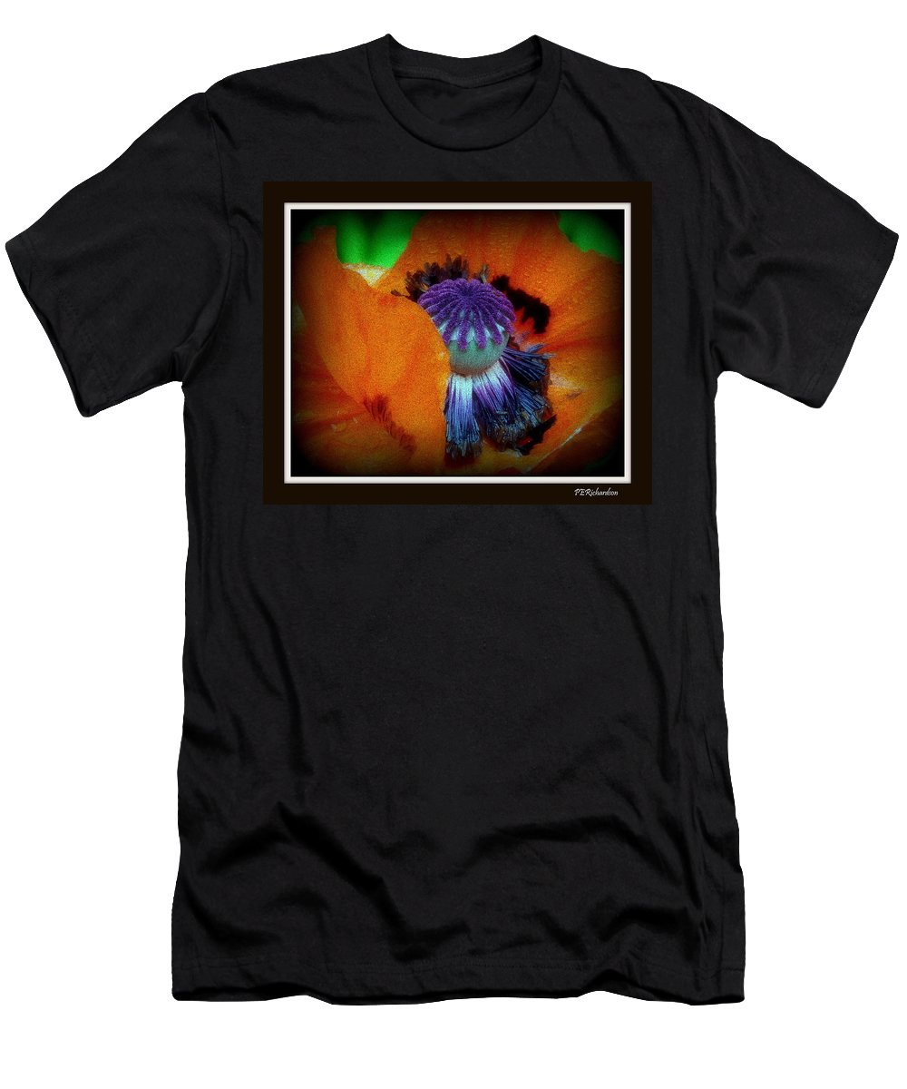 Poppy Men's T-Shirt (Athletic Fit) featuring the photograph Pretentious by Priscilla Richardson