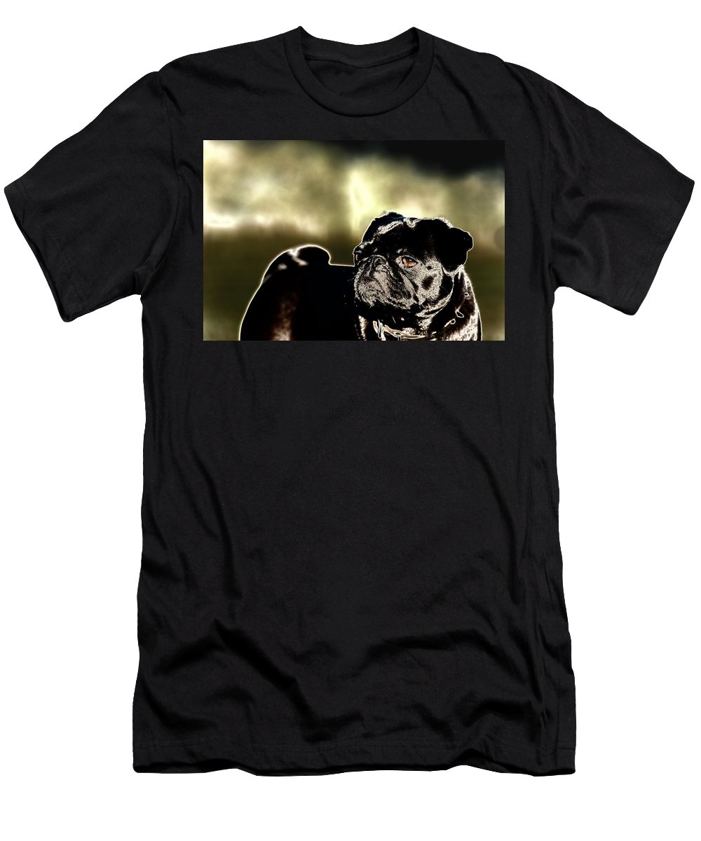 Pug Men's T-Shirt (Athletic Fit) featuring the digital art Pug by Veronica Busch