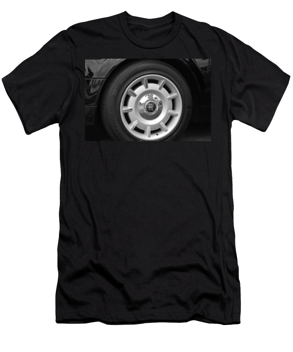 Rolls Royce Men's T-Shirt (Athletic Fit) featuring the photograph R R Wheel by Rob Hans
