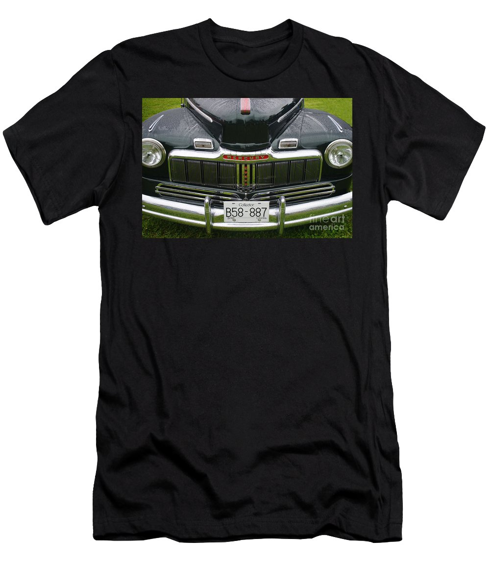 Custom Cars Men's T-Shirt (Athletic Fit) featuring the photograph Raindrops On The Mercury by Randy Harris