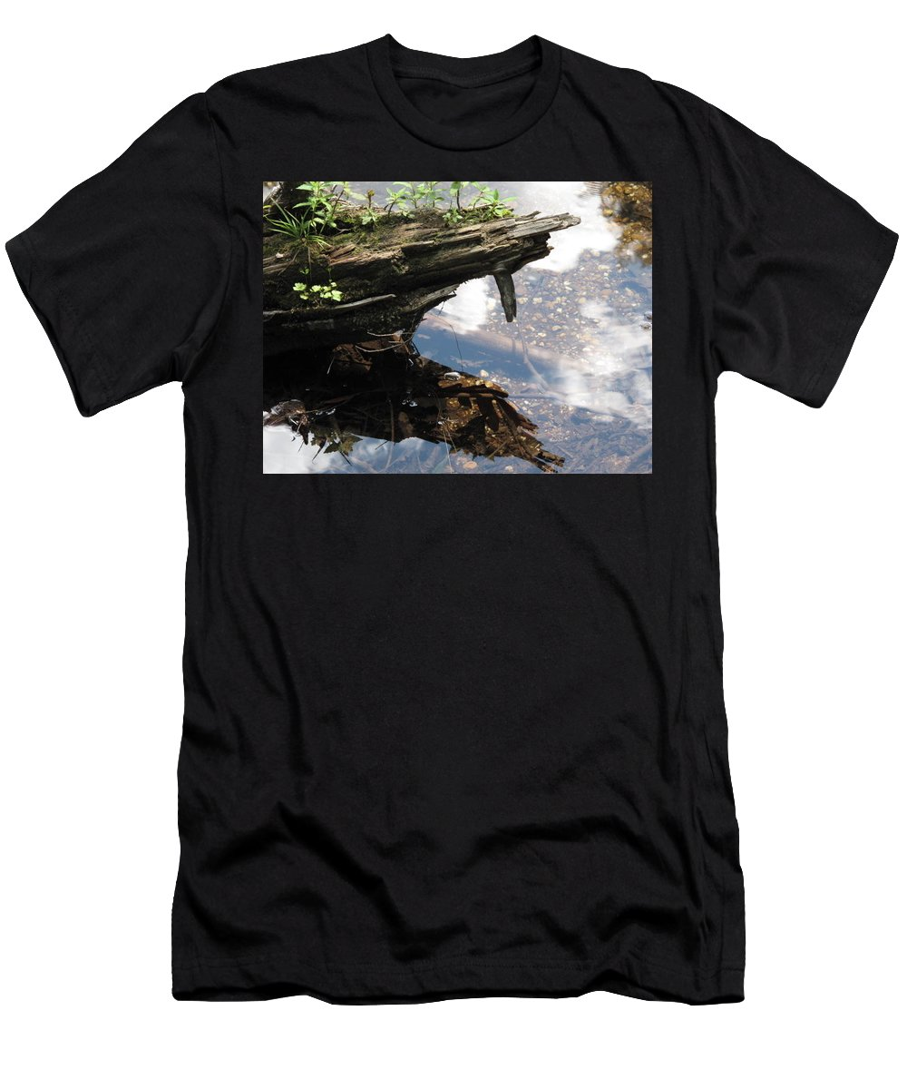 Wood Men's T-Shirt (Athletic Fit) featuring the photograph Reflection by Michele Nelson