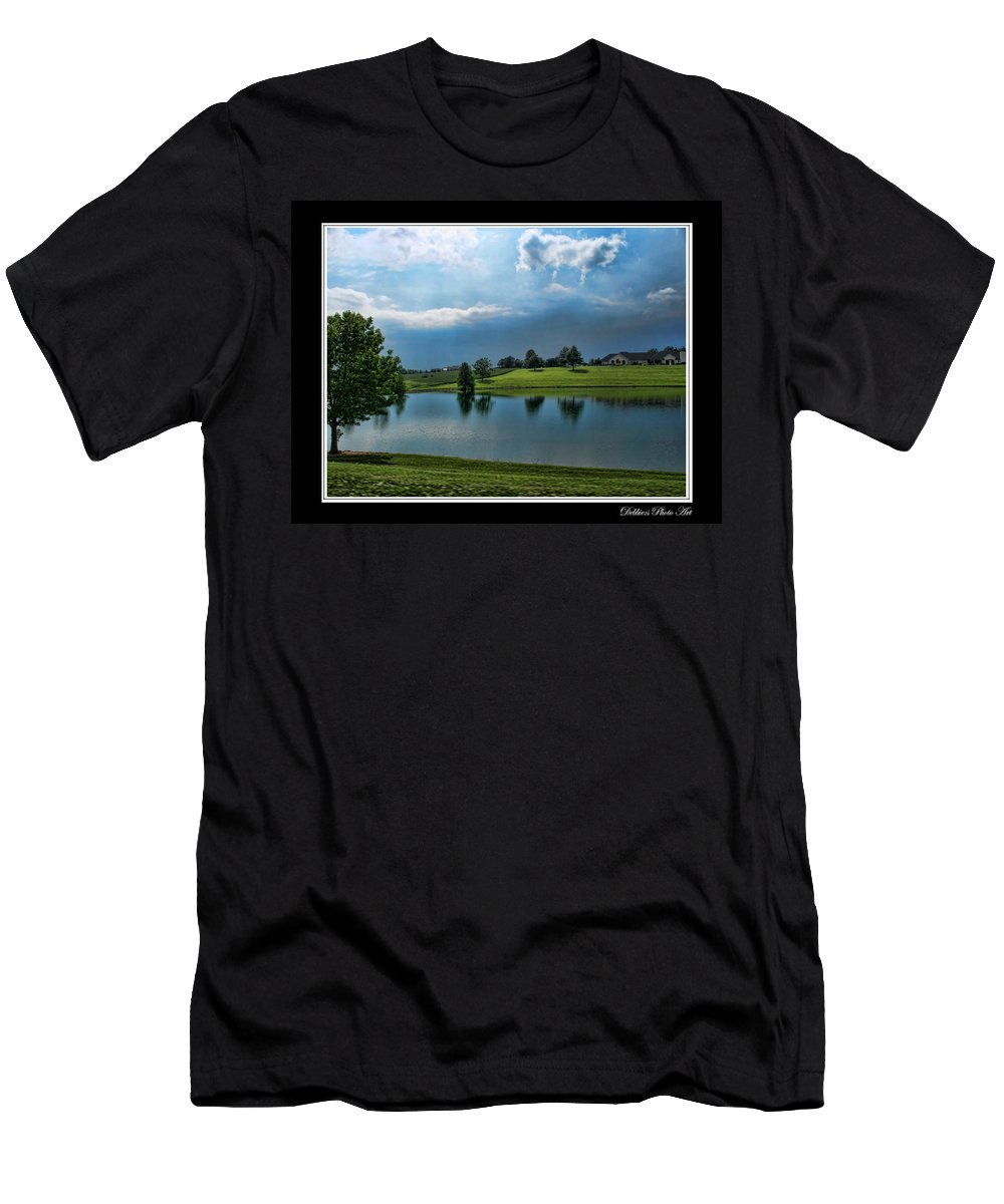 Men's T-Shirt (Athletic Fit) featuring the photograph Reflections Of Home by Debbie Portwood