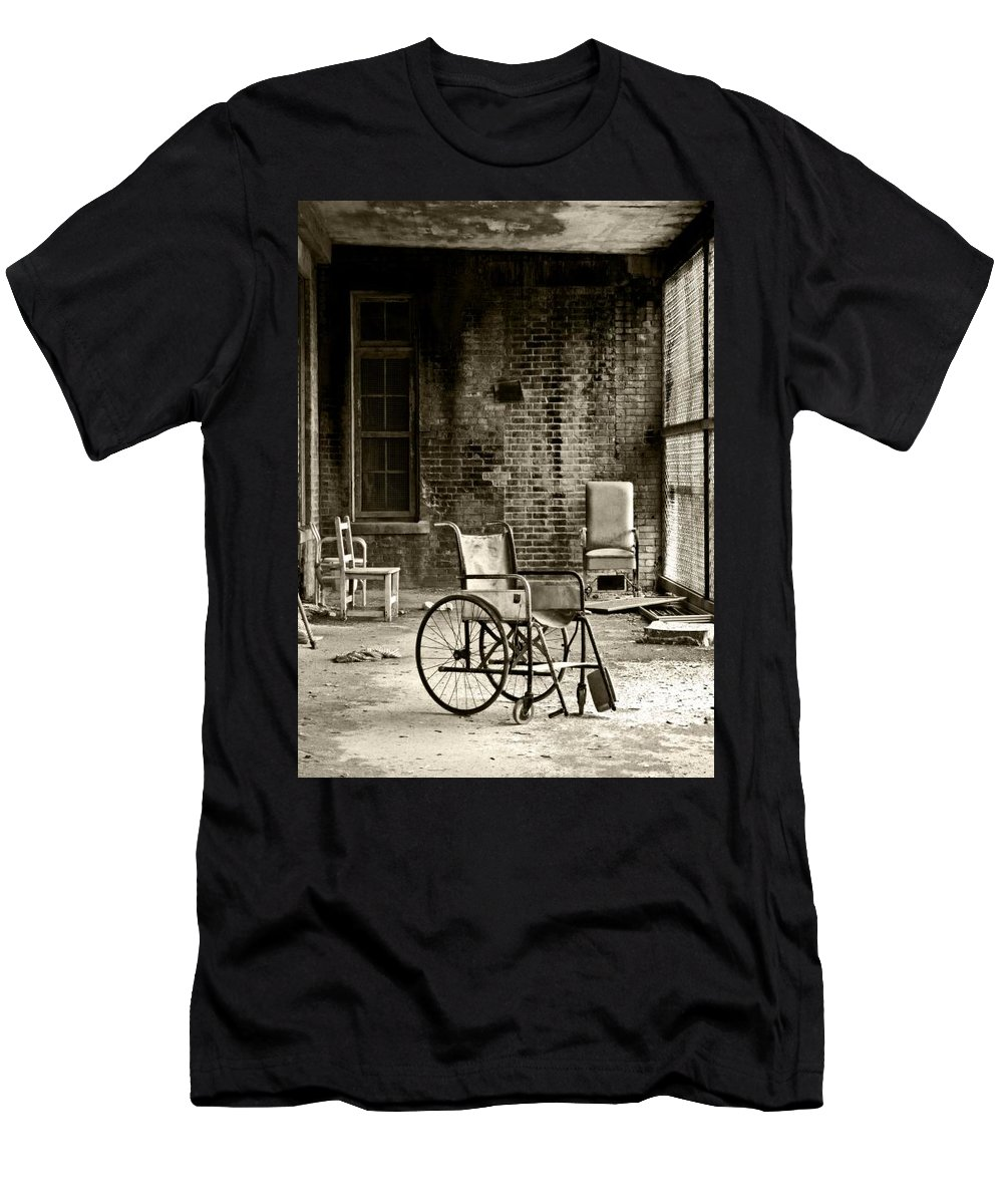 Abandoned Men's T-Shirt (Athletic Fit) featuring the photograph Restrain by Conor McLaughlin
