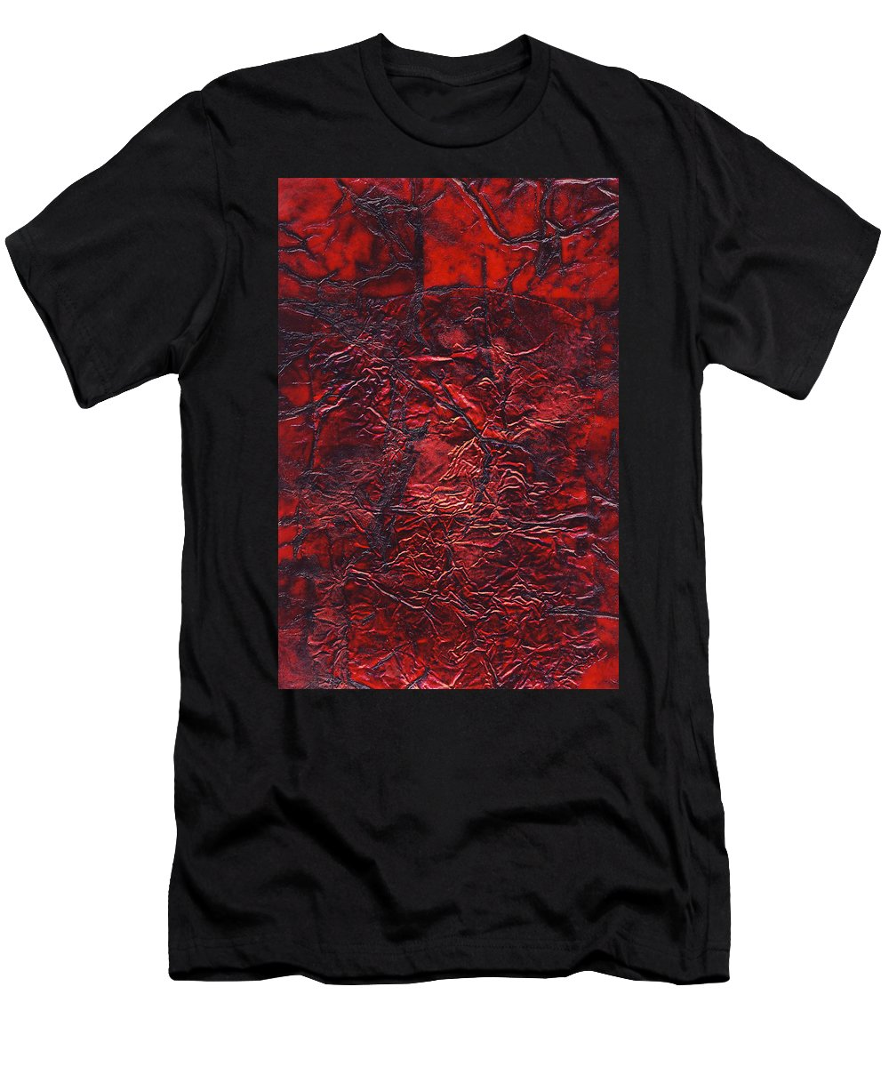 Abstract Men's T-Shirt (Athletic Fit) featuring the mixed media Rhapsody Of Colors 69 by Elisabeth Witte