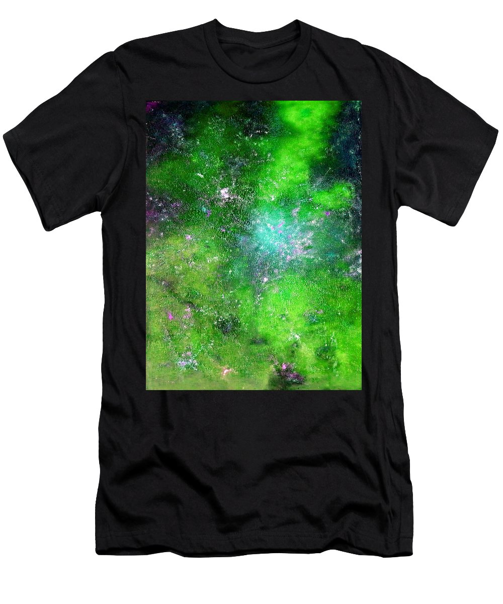 Rhapsody Men's T-Shirt (Athletic Fit) featuring the painting Rhapsody Of Stars In C Major by Giro Tavitian