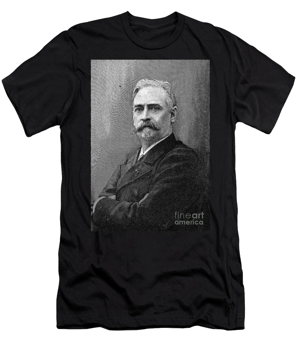 19th Century Men's T-Shirt (Athletic Fit) featuring the photograph Richard Morris Hunt by Granger