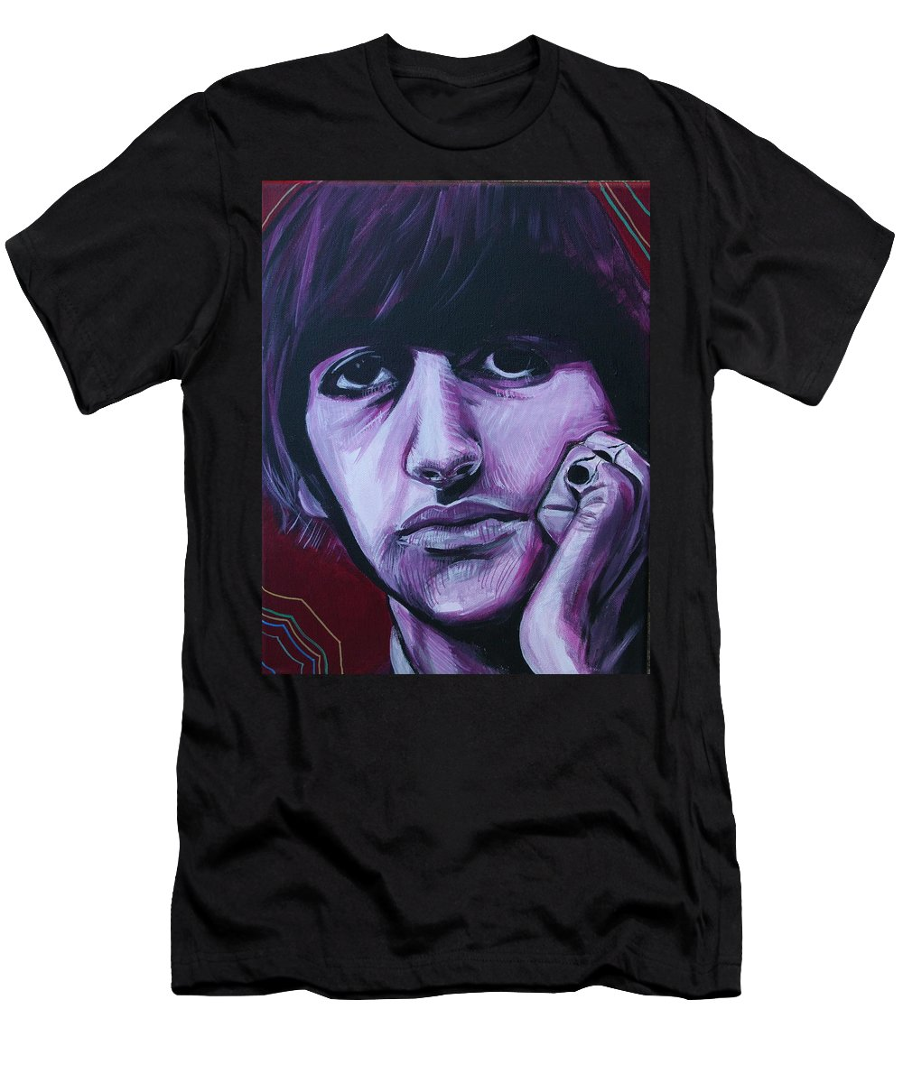 Beatles T-Shirt featuring the painting Ringo Star by Kate Fortin
