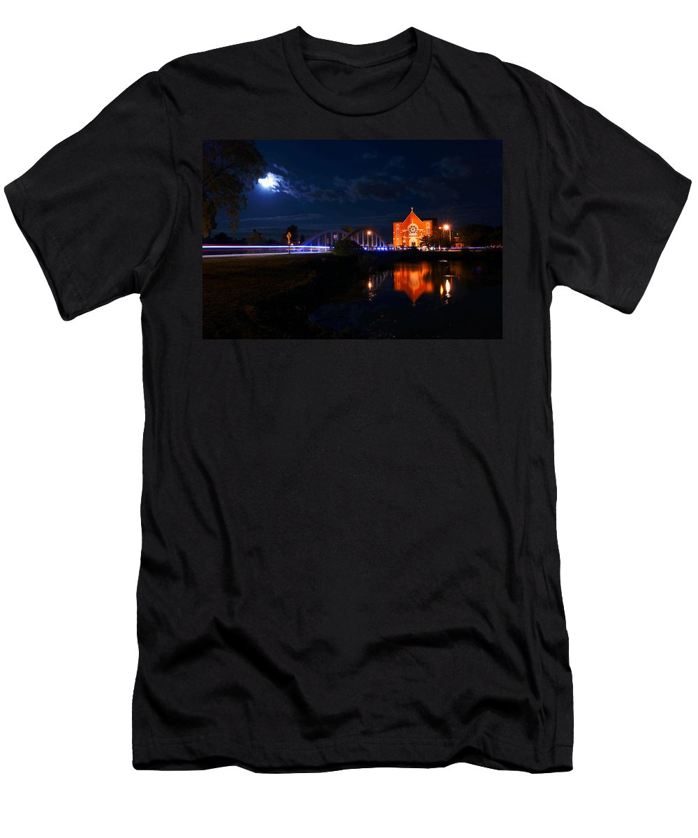 Night Men's T-Shirt (Athletic Fit) featuring the photograph River Canard by Cale Best