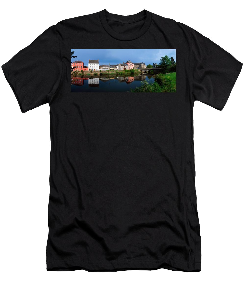 Building Men's T-Shirt (Athletic Fit) featuring the photograph River Nore, Kilkenny, County Kilkenny by The Irish Image Collection