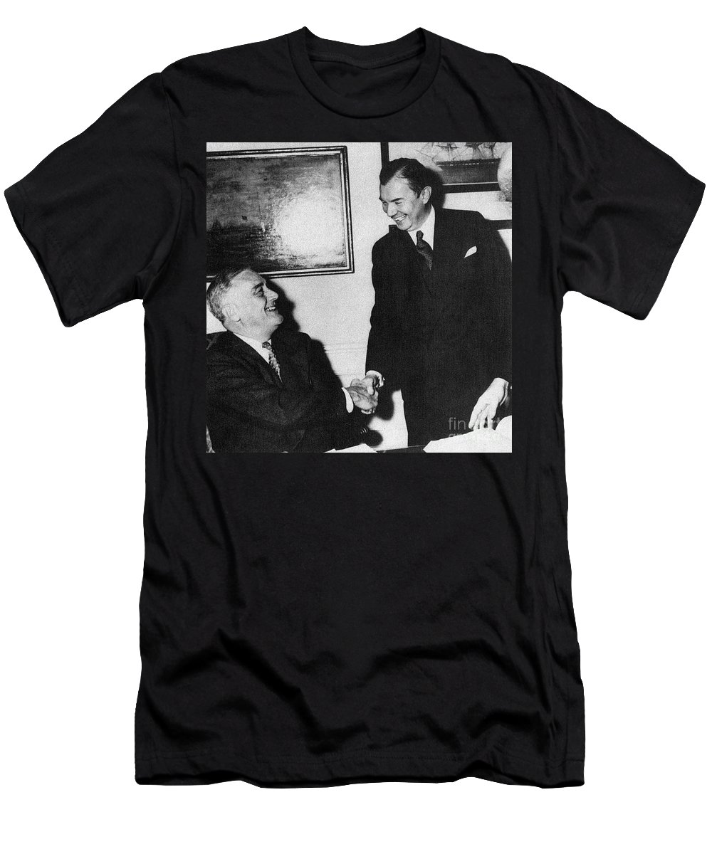 1941 Men's T-Shirt (Athletic Fit) featuring the photograph Robert H. Jackson (1892-1954) by Granger