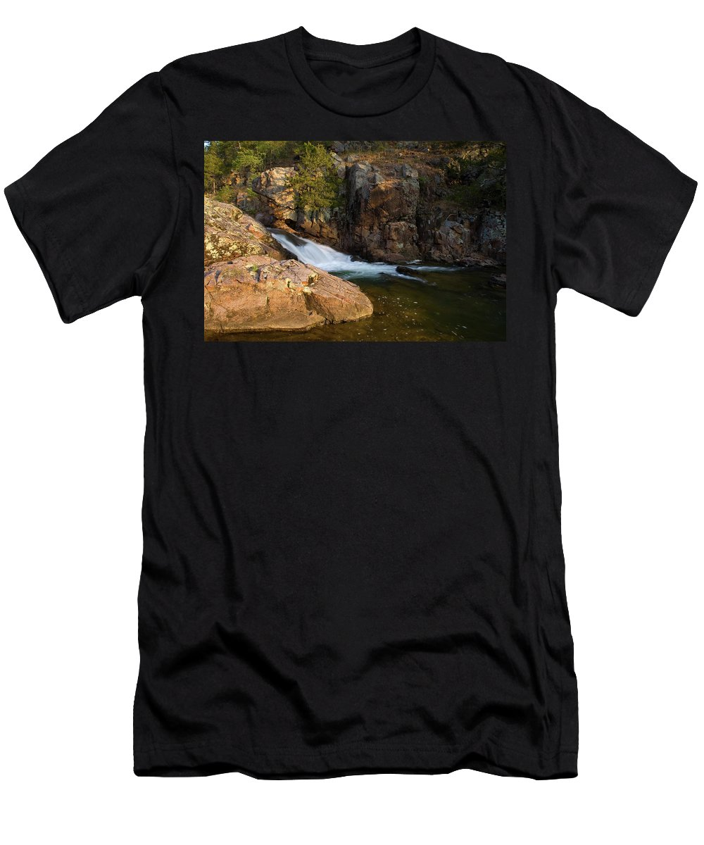 Ozarks Men's T-Shirt (Athletic Fit) featuring the photograph Rocky Creek by Steve Stuller