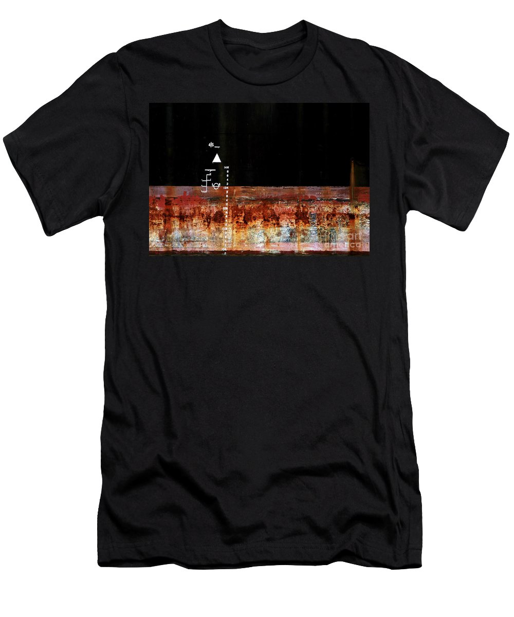 Rust Men's T-Shirt (Athletic Fit) featuring the photograph Rusted Layer by Stephen Mitchell
