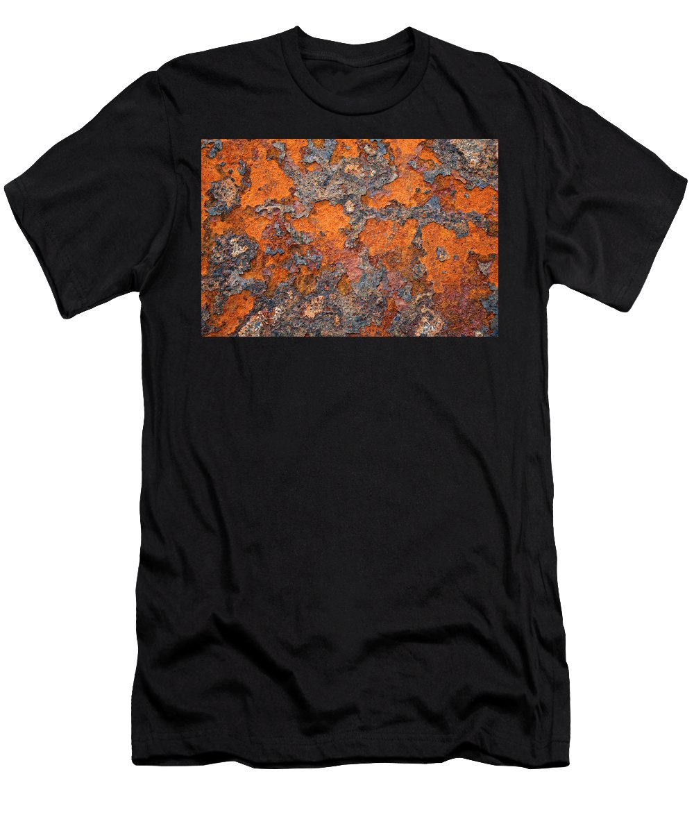 Rust Men's T-Shirt (Athletic Fit) featuring the photograph Rusting Away by Ric Bascobert