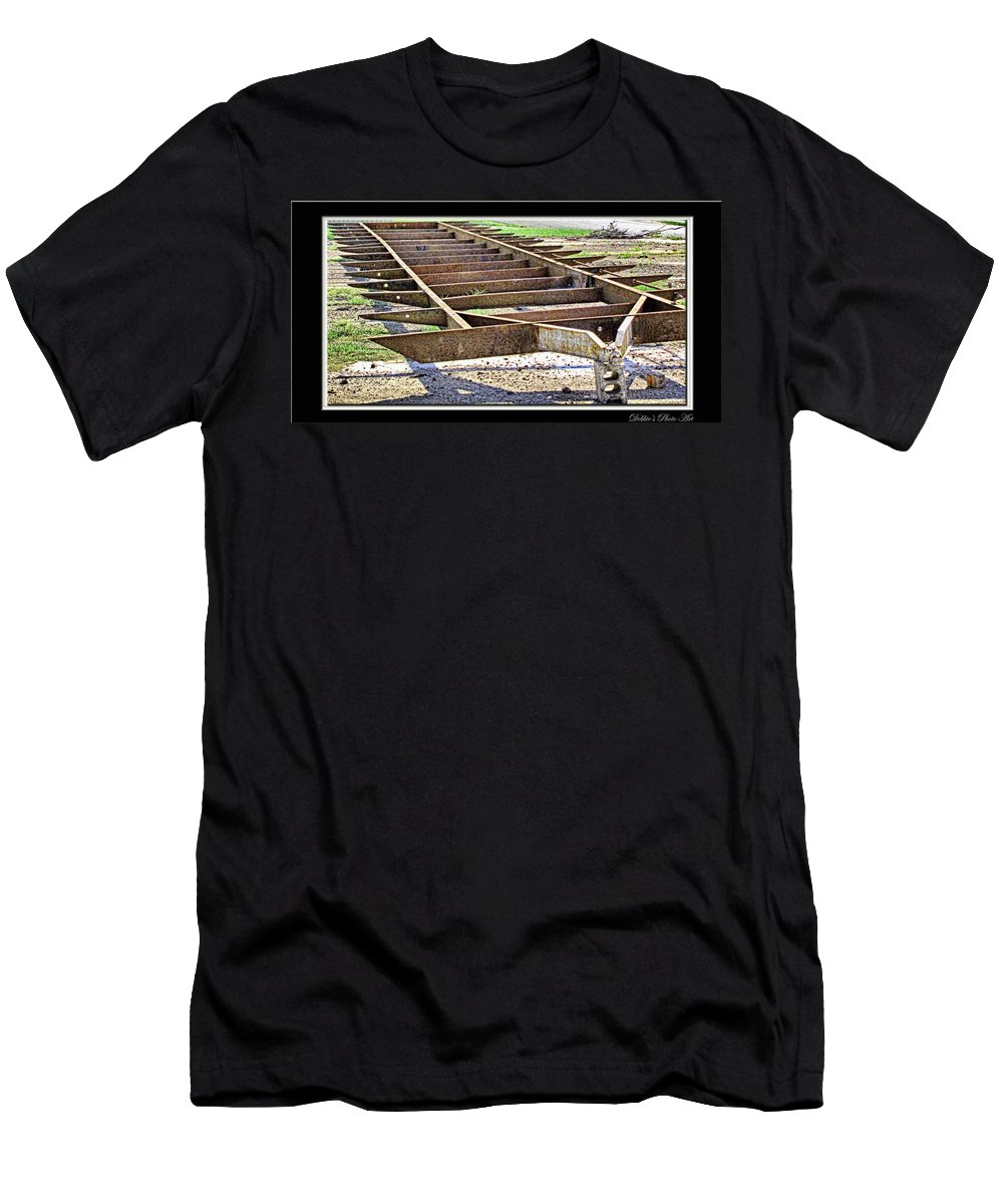 Men's T-Shirt (Athletic Fit) featuring the photograph Rusty Relic by Debbie Portwood