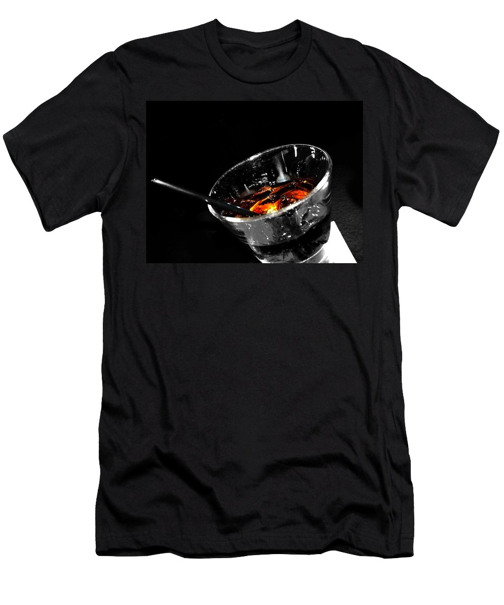 Elm Men's T-Shirt (Athletic Fit) featuring the photograph Rye And Coke Please by The Artist Project