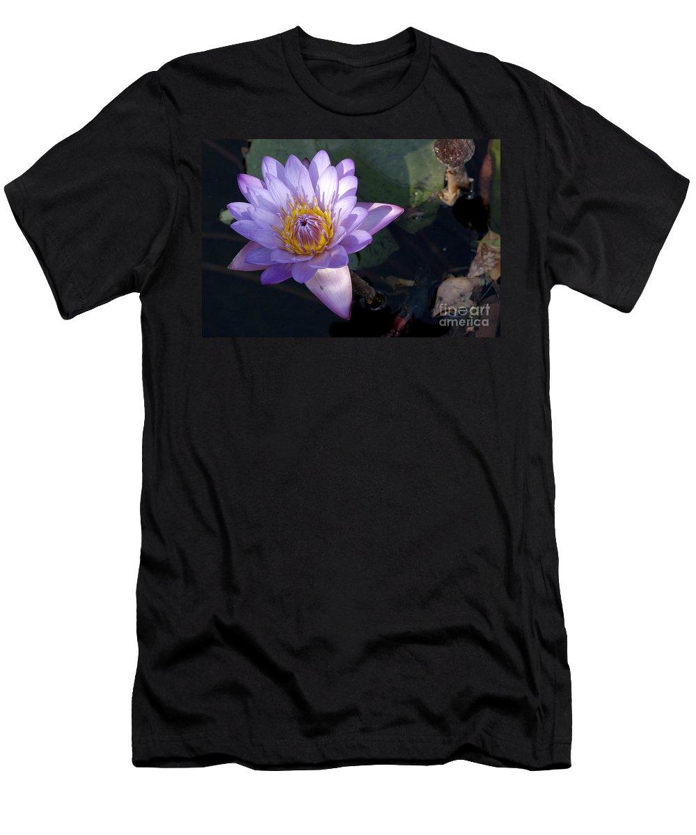 Lotus Men's T-Shirt (Athletic Fit) featuring the photograph Sacred Lotus by Raul Gonzalez Perez