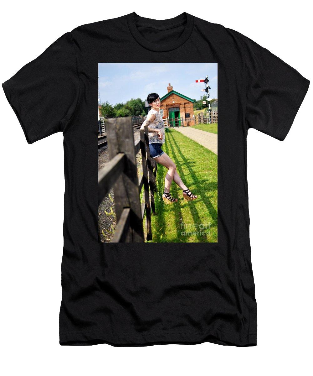 Yhun Suarez Men's T-Shirt (Athletic Fit) featuring the photograph Sam15 by Yhun Suarez