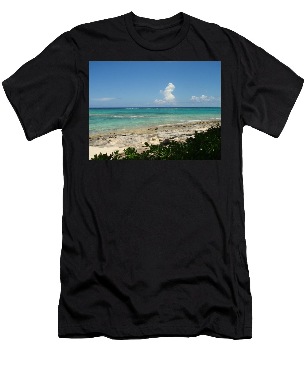 Cay Men's T-Shirt (Athletic Fit) featuring the photograph Sandals Cay by Kimberly Perry