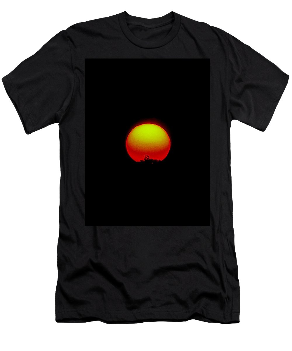 Sunset Men's T-Shirt (Athletic Fit) featuring the photograph September 24 2010 by Mark Gilman