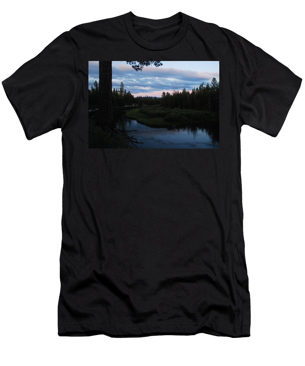 Sunset Men's T-Shirt (Athletic Fit) featuring the photograph Serenity by Michael Merry