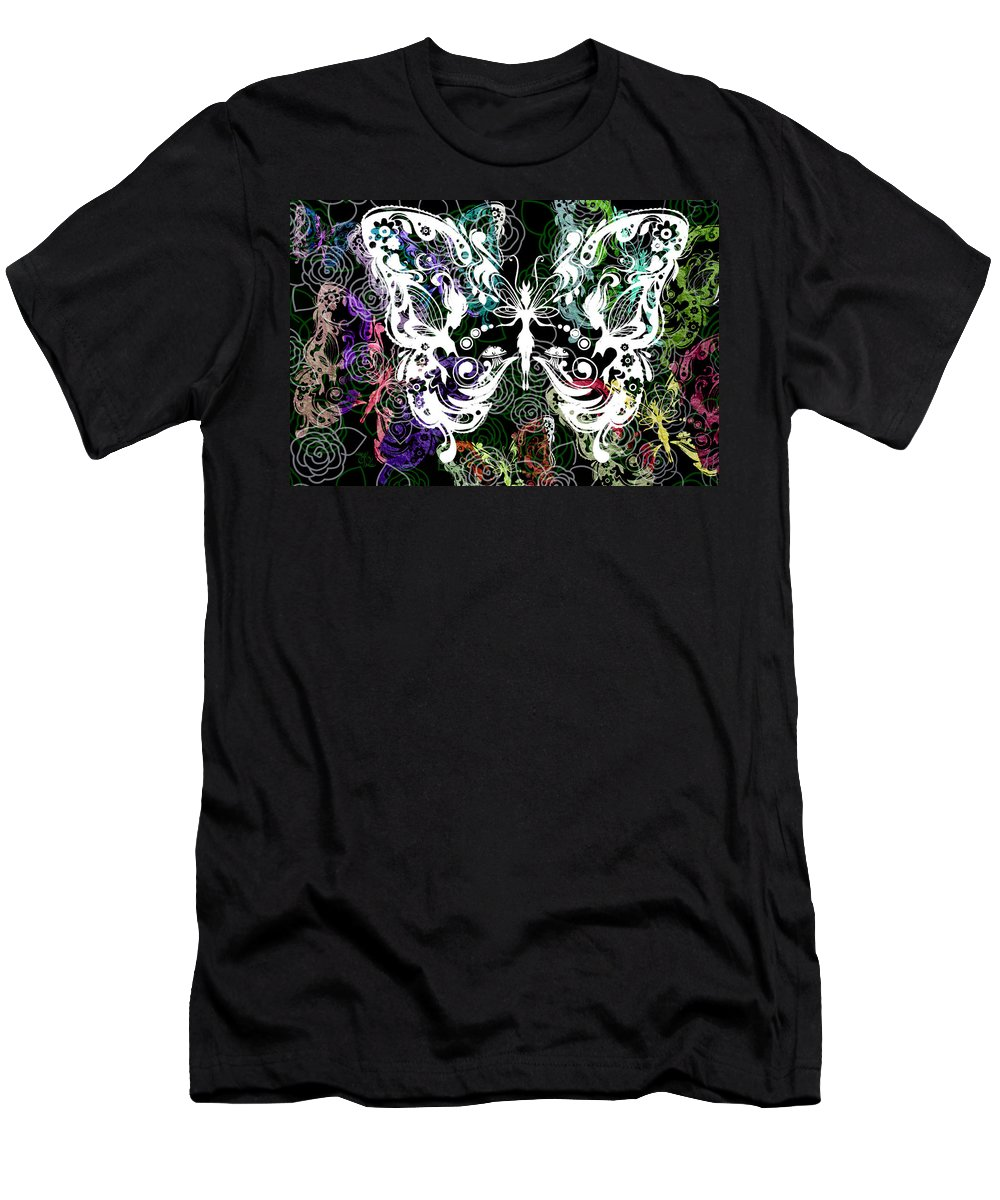 Silhouette Men's T-Shirt (Athletic Fit) featuring the photograph Seven Butterflies by Angelina Vick