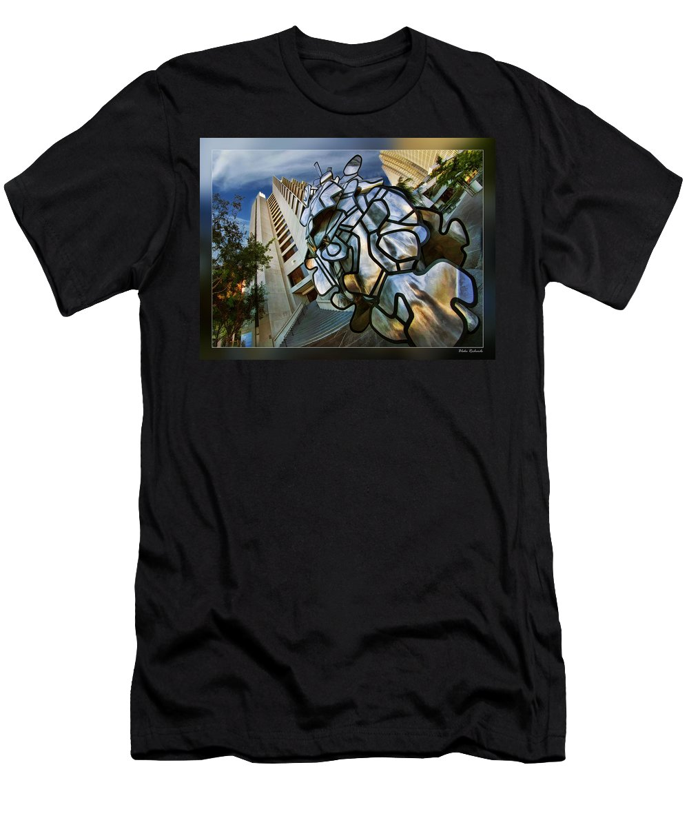 Art Photography Men's T-Shirt (Athletic Fit) featuring the photograph Sf Hyatt Outside by Blake Richards