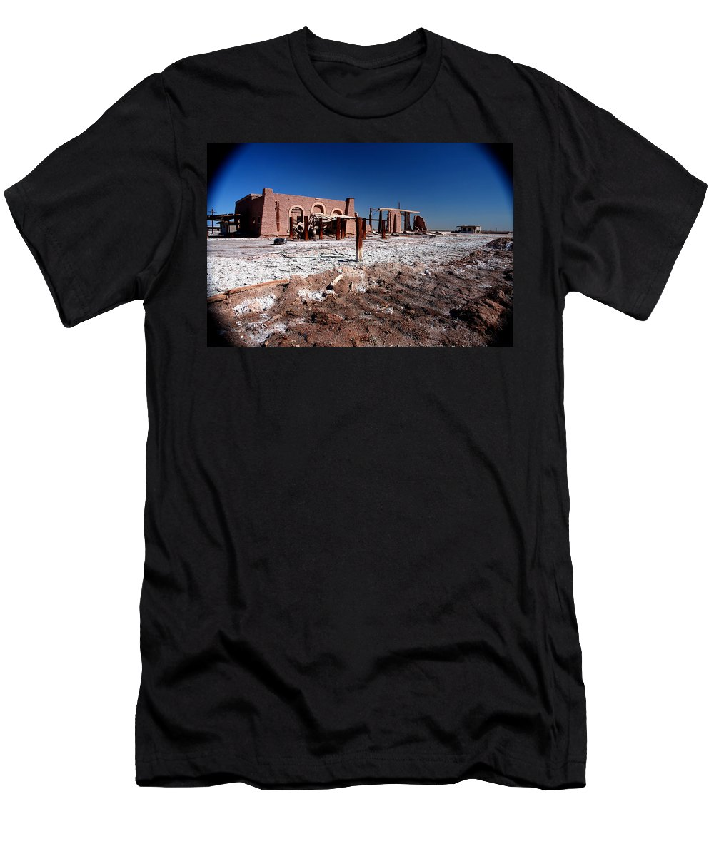 Salton Sea Men's T-Shirt (Athletic Fit) featuring the photograph Shattered Dreams by Lon Casler Bixby