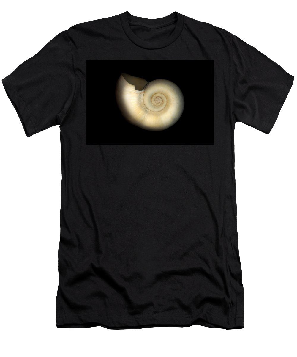 Nautilus Men's T-Shirt (Athletic Fit) featuring the photograph Shell - Conchology - Nautilus by Mike Savad