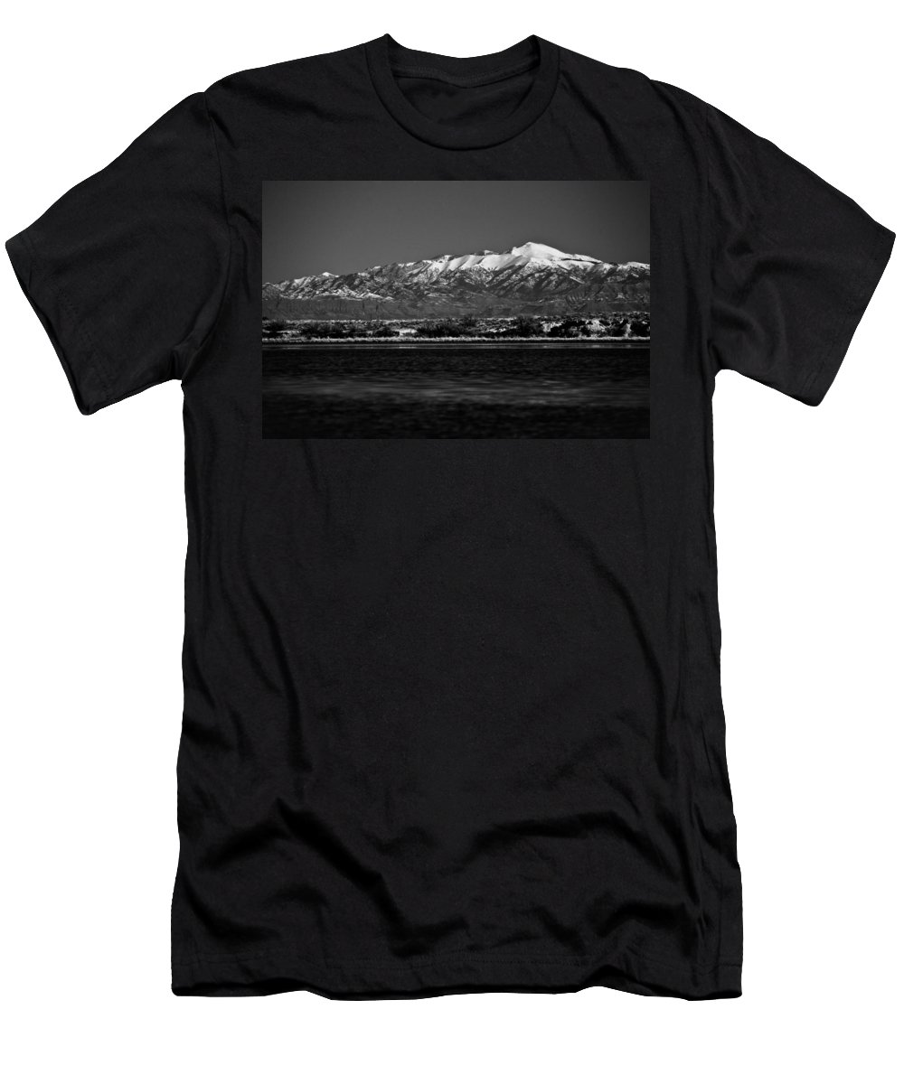 White Sands National Monument Men's T-Shirt (Athletic Fit) featuring the photograph Sierra Blanca by Ralf Kaiser
