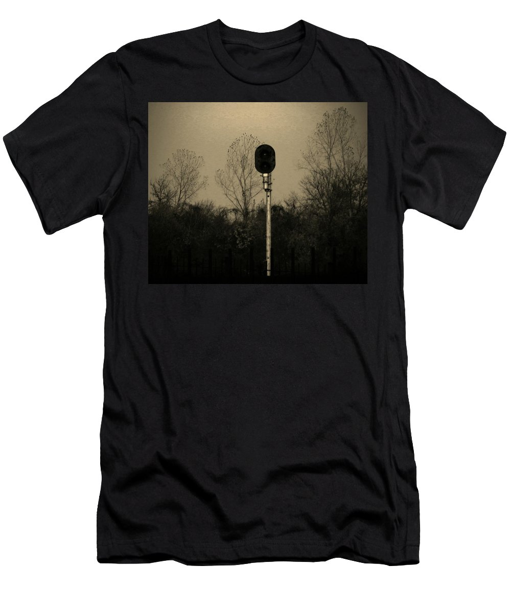 Landscape Men's T-Shirt (Athletic Fit) featuring the photograph Signal by Chris Berry