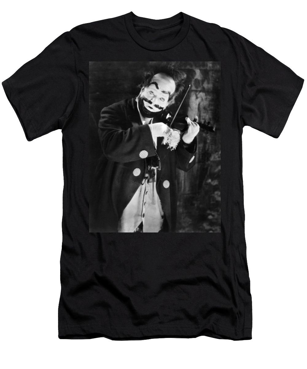 1915 Men's T-Shirt (Athletic Fit) featuring the photograph Silent Film Still: Clown by Granger