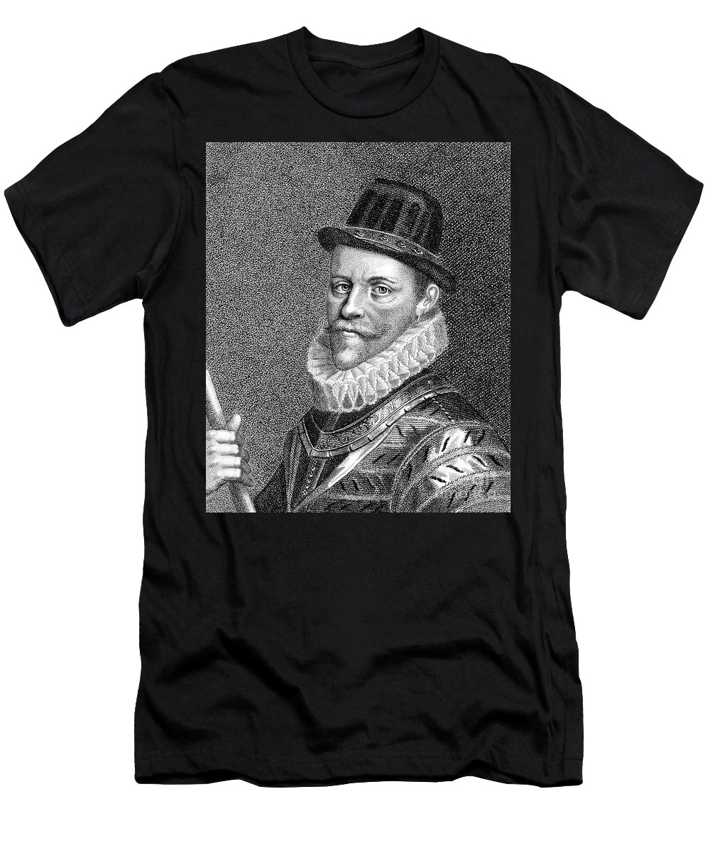 16th Century Men's T-Shirt (Athletic Fit) featuring the photograph Sir John Hawkins (1532-1595) by Granger