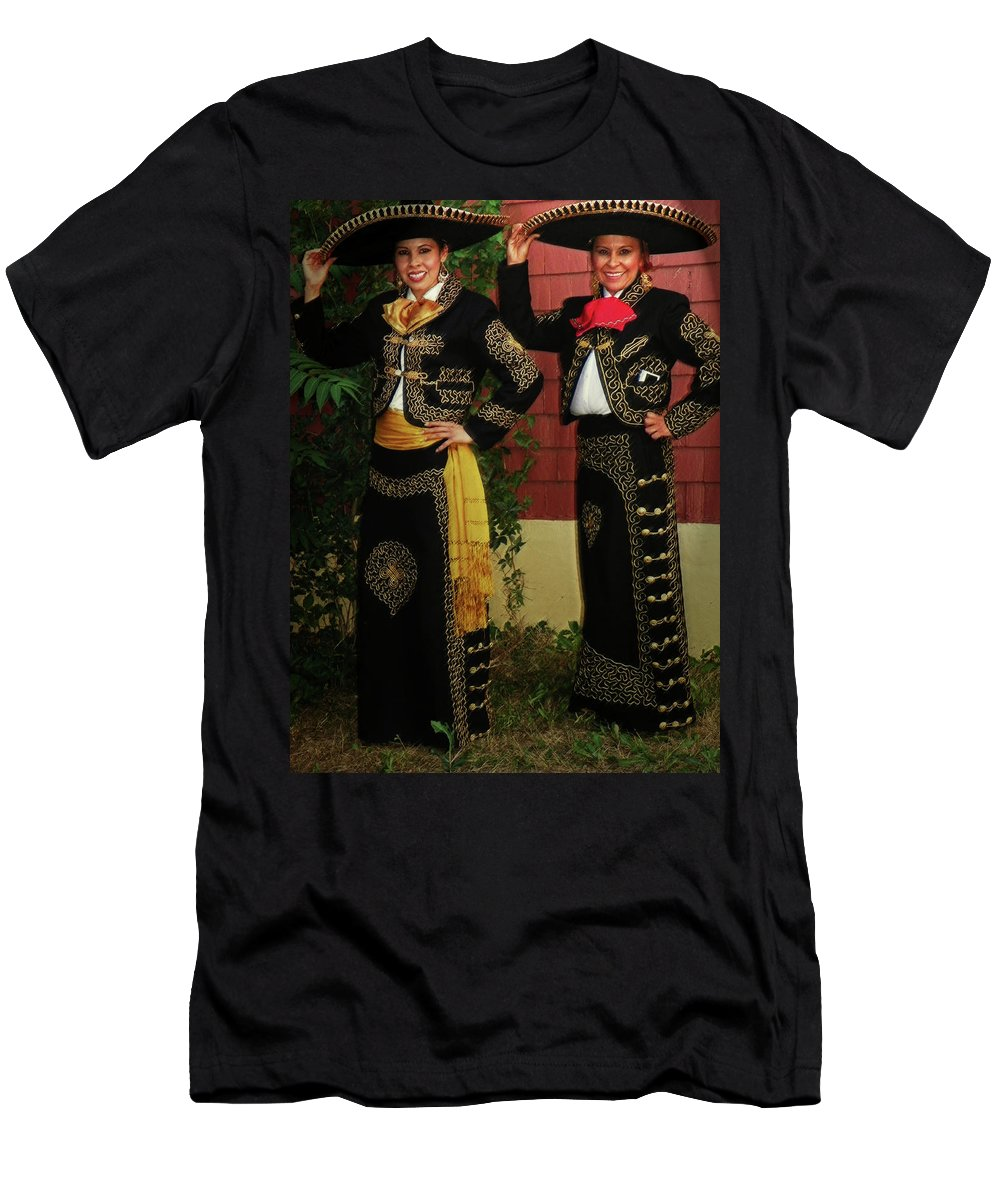 Expressive Men's T-Shirt (Athletic Fit) featuring the photograph Sisters - In Full Regalia by Lenore Senior