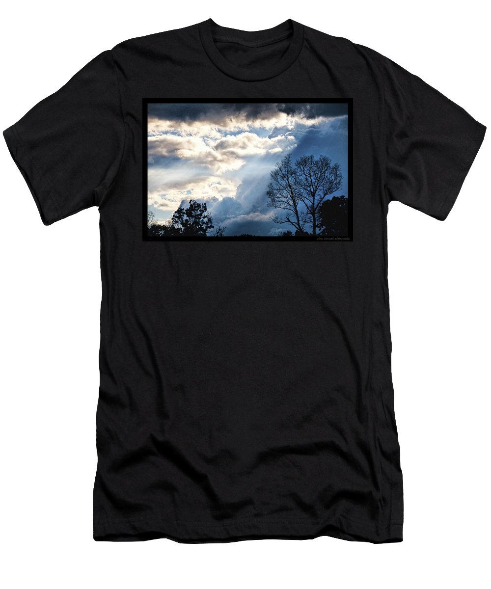 Trees Men's T-Shirt (Athletic Fit) featuring the photograph Sky by Sheri Bartoszek