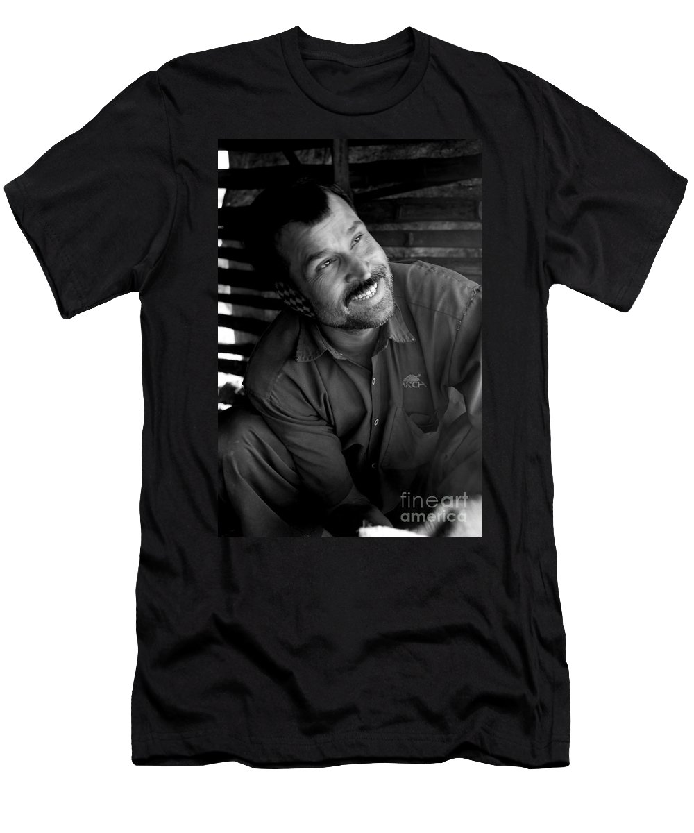 Smile Men's T-Shirt (Athletic Fit) featuring the photograph Smile by Dattaram Gawade