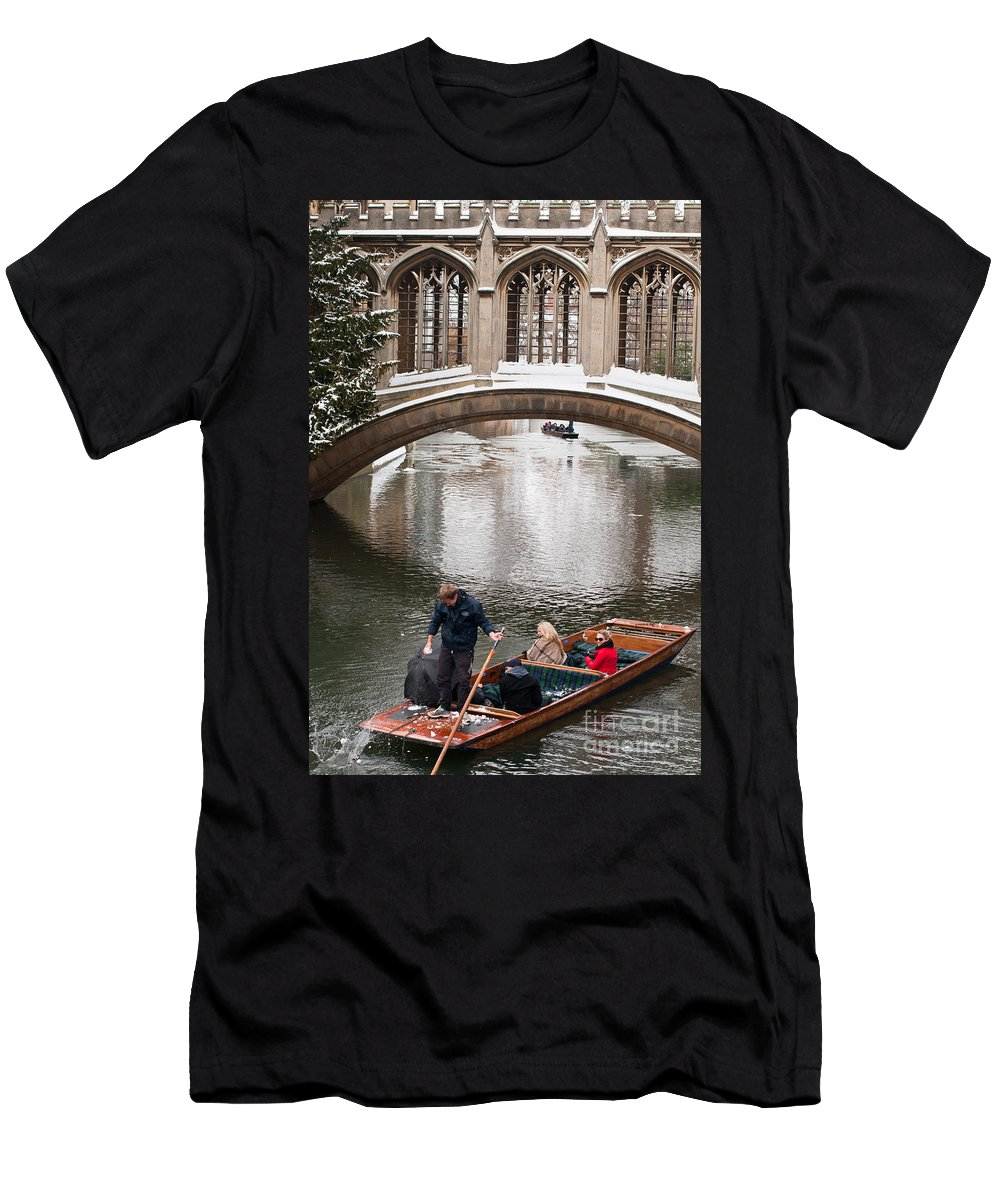 Anglia Men's T-Shirt (Athletic Fit) featuring the photograph Snow Ball Fight by Andrew Michael