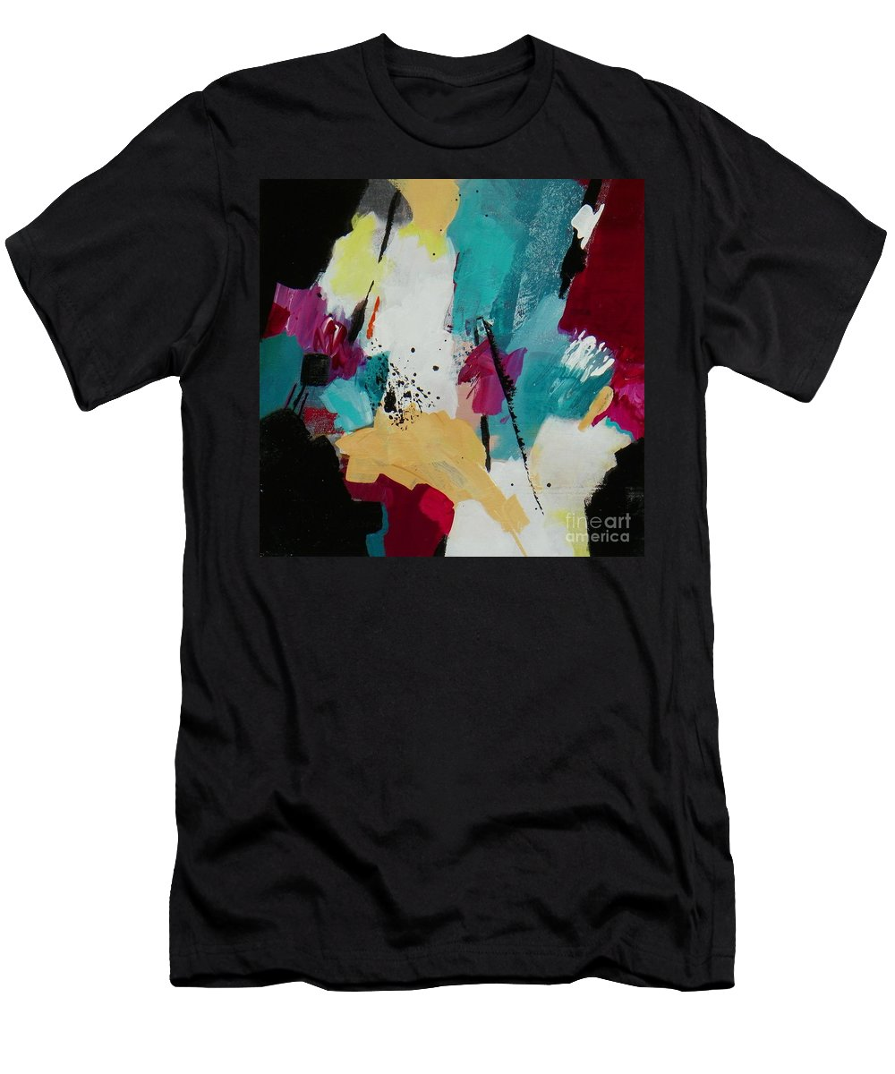 Snowdrift Abstract Men's T-Shirt (Athletic Fit) featuring the painting Snowdrift by Donna Frost