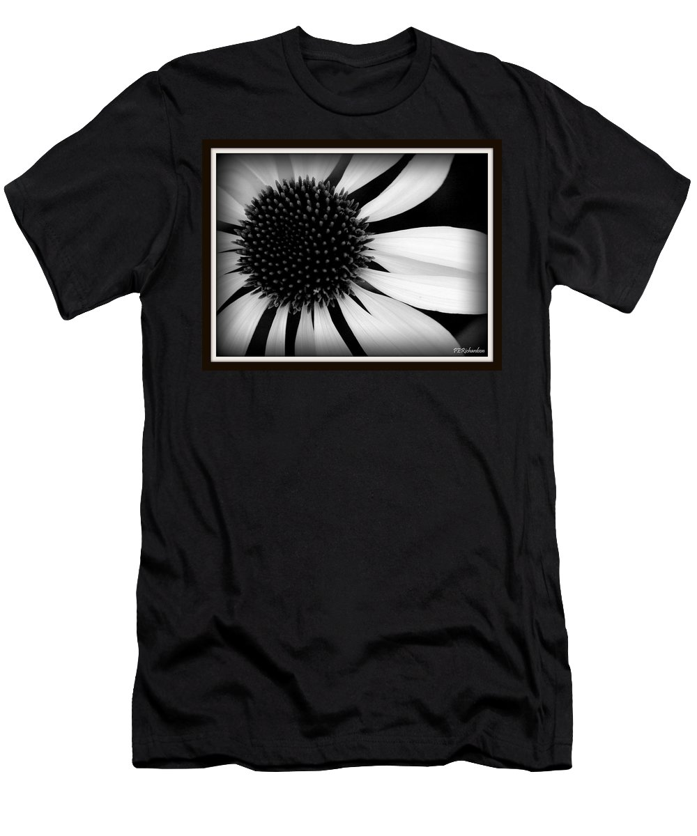 Black And White Men's T-Shirt (Athletic Fit) featuring the photograph Spin by Priscilla Richardson