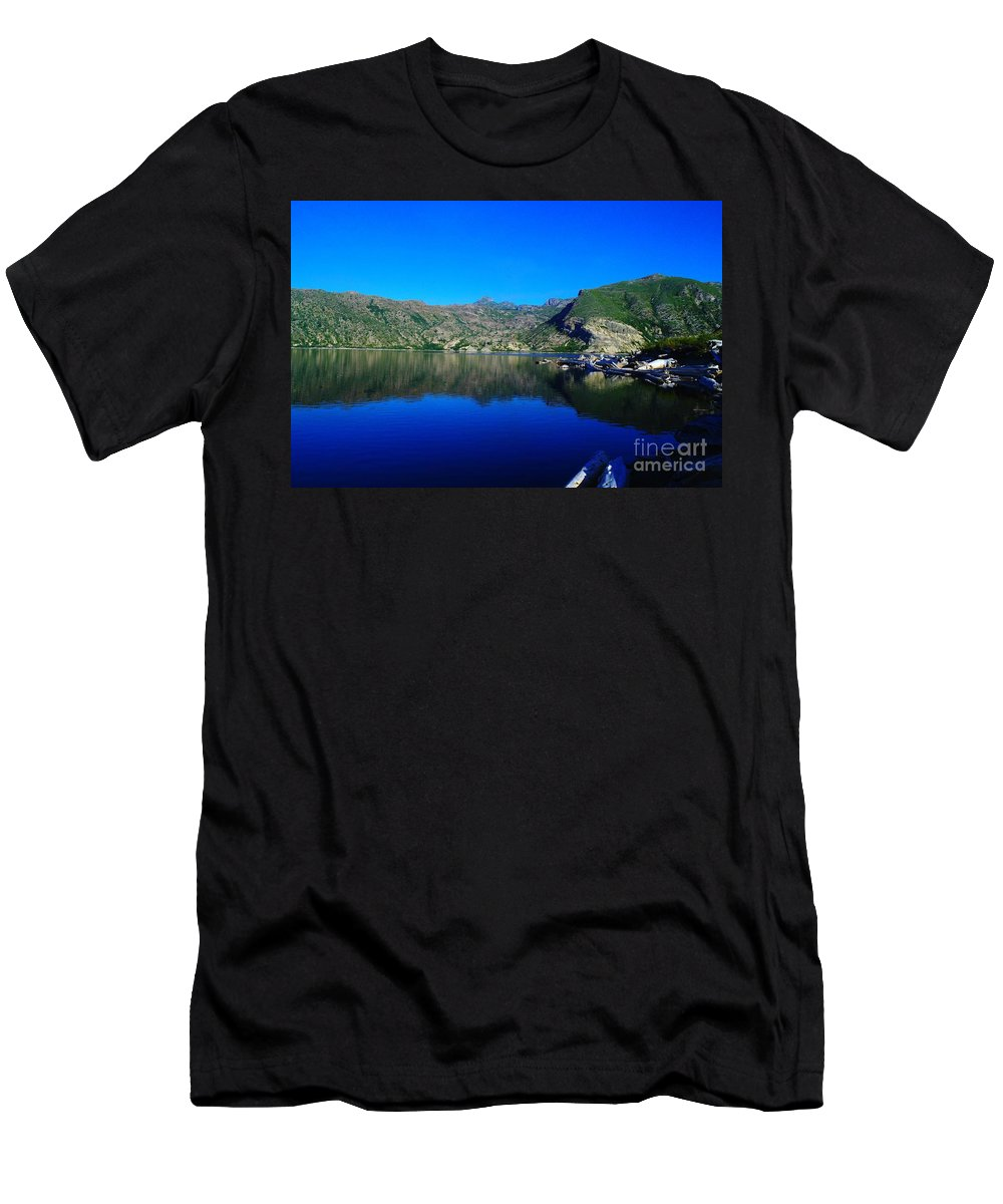 Lake Men's T-Shirt (Athletic Fit) featuring the photograph Spirit Lake by Jeff Swan