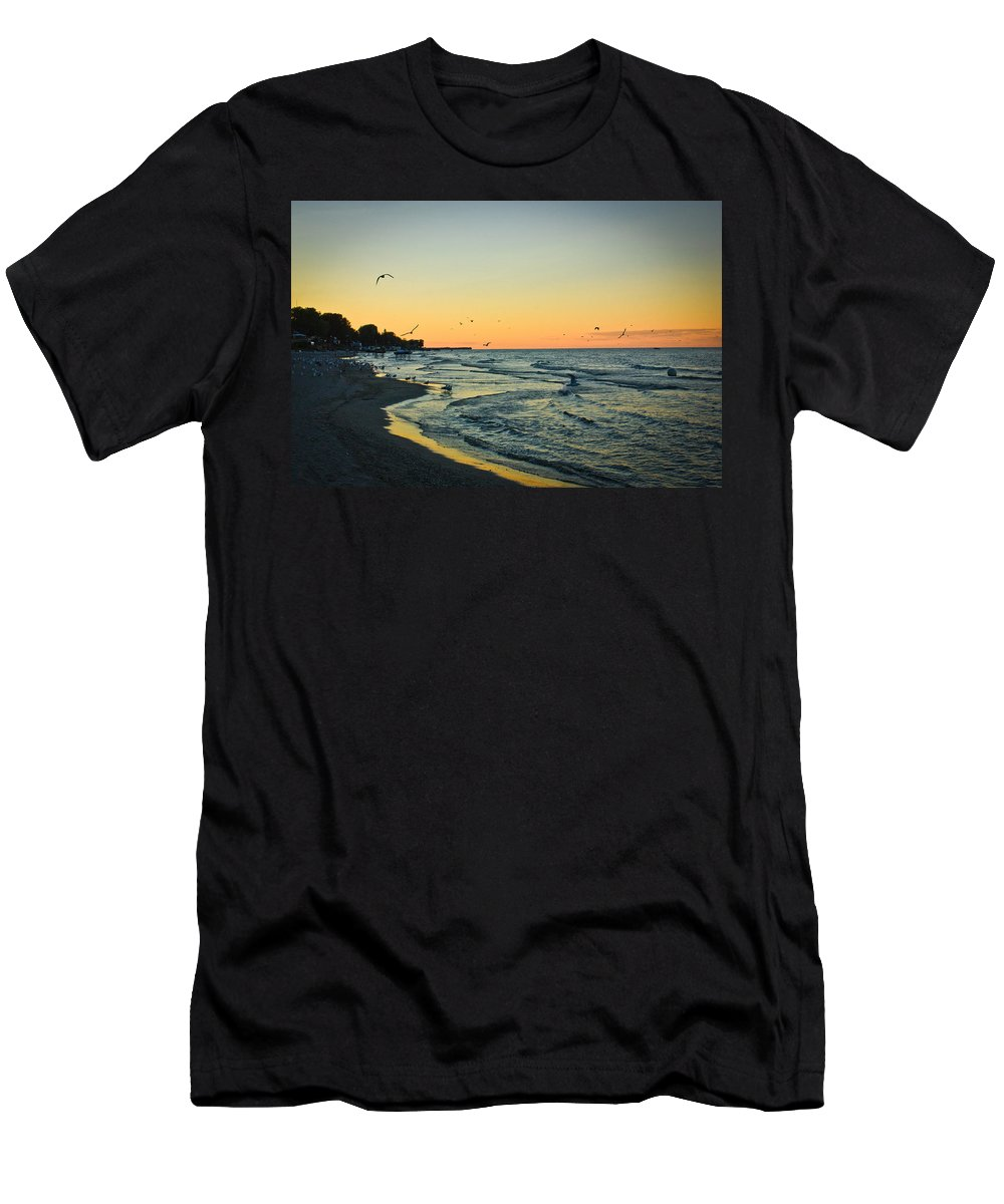 Beach Men's T-Shirt (Athletic Fit) featuring the photograph Spirit's Journey by Sara Frank