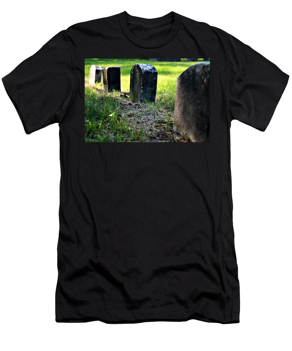 Gravestones Men's T-Shirt (Athletic Fit) featuring the photograph Sprouting Up by Erin Rosenblum