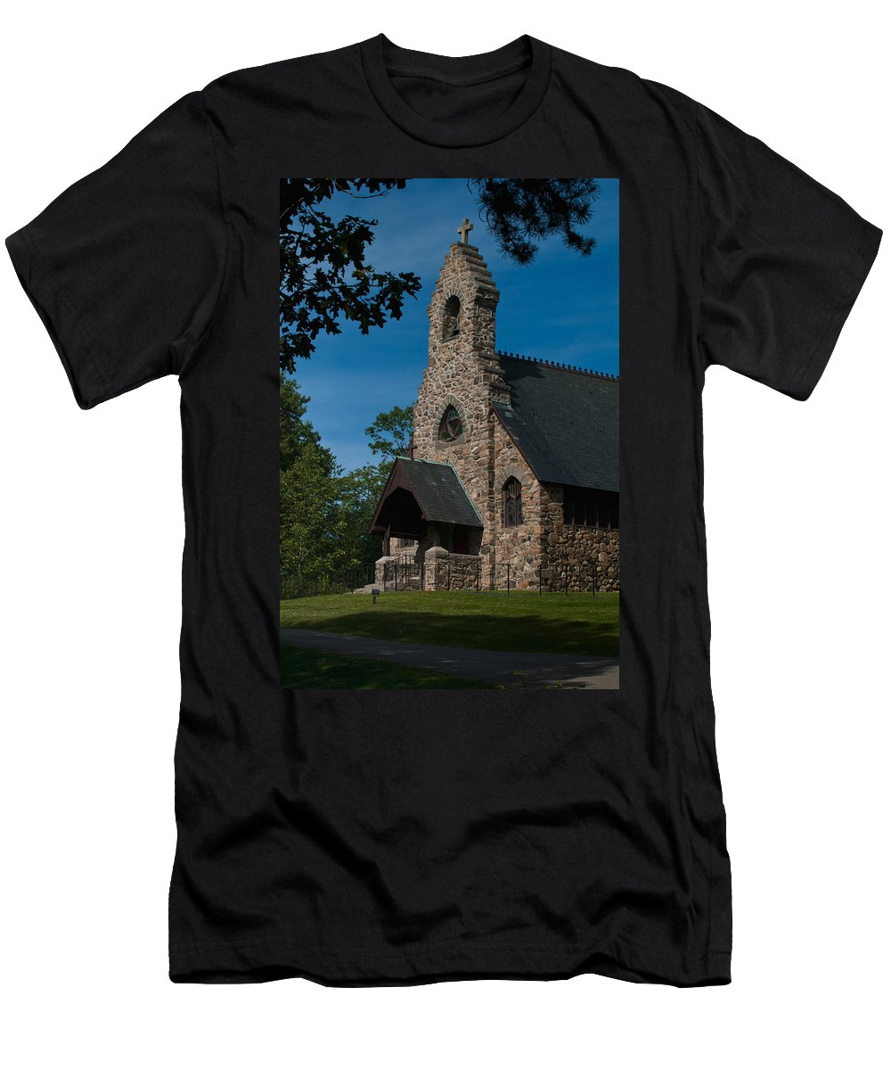 st. Peter's By-the-sea Protestant Episcopal Church Men's T-Shirt (Athletic Fit) featuring the photograph St. Peter's By-the-sea Protestant Episcopal Church by Paul Mangold