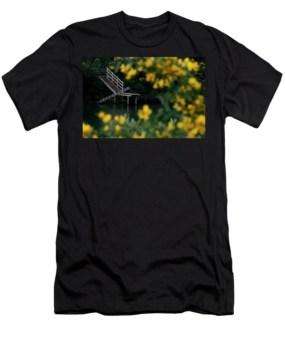 Stairs Men's T-Shirt (Athletic Fit) featuring the photograph Stairway To Heaven by Pedro Cardona Llambias