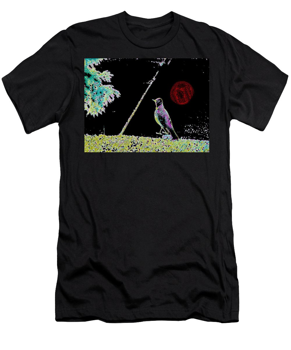 Abstract Men's T-Shirt (Athletic Fit) featuring the photograph Stayin Alive by Lenore Senior