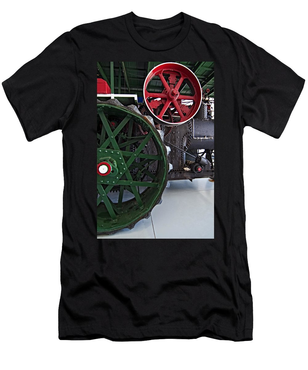 Grey Roots Museum & Archives Men's T-Shirt (Athletic Fit) featuring the photograph Steam Power by Steve Harrington