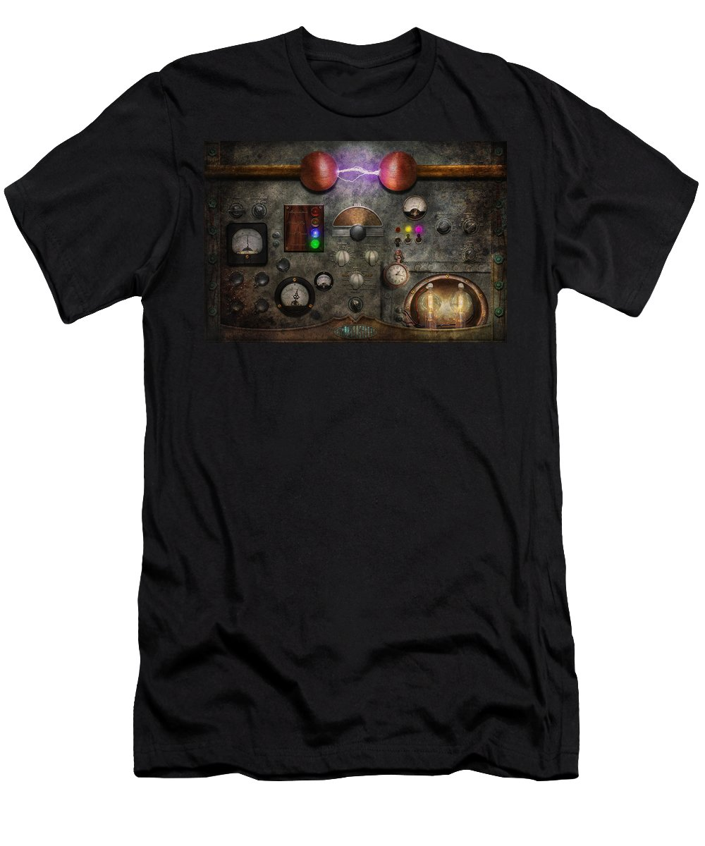 Old Fashioned Men's T-Shirt (Athletic Fit) featuring the digital art Steampunk - The Modulator by Mike Savad
